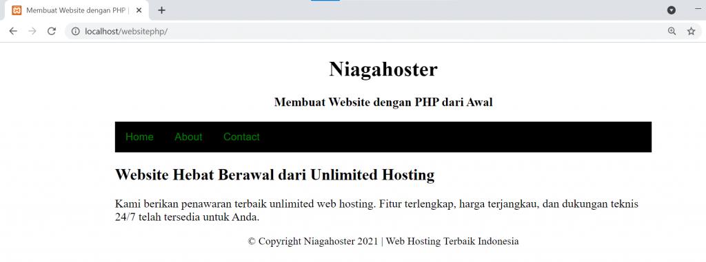 cara membuat website menggunakan php langkah 7.1