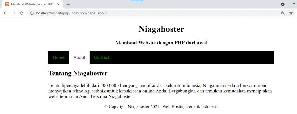 cara membuat website php langkah 7.2