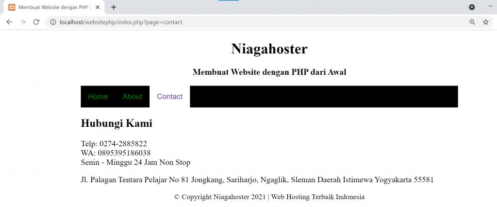 cara membuat website dengan php dari awal langkah 7.3