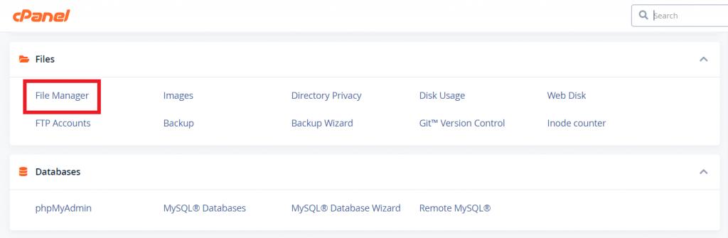 menu file manager