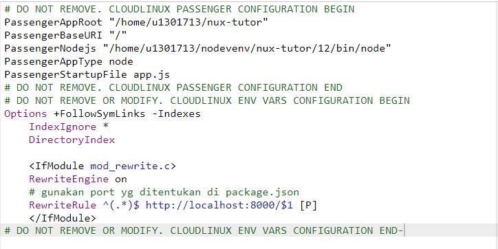 konfigurasi port di file .htaccess